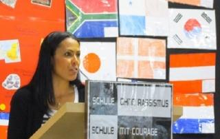 Danitza Ruiz, Lehrkraft am BBZ, hat mit viel Engagement und unermüdlicher Aktivität zum Gelingen der Spendenaktion beigetragen.